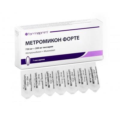 МЕТРОМИКОН-ФОРТЕ вагинальные суппозитории